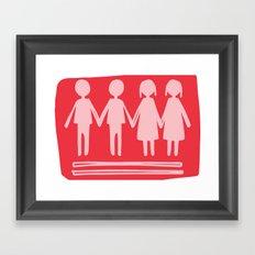 Equality Love Framed Art Print