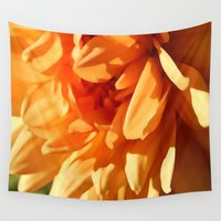 vermont Wall Tapestries featuring Vermont Autumn Golden Flower by Vermont Greetings