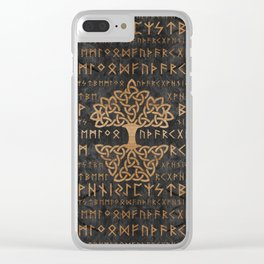 Elder Futhark Pattern and Tree of life Clear iPhone Case