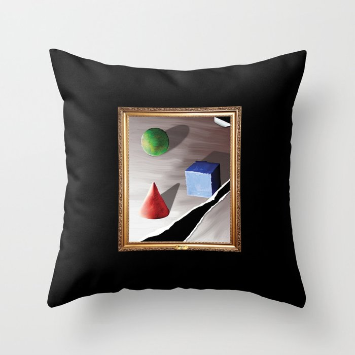 Broken By Design Throw Pillow