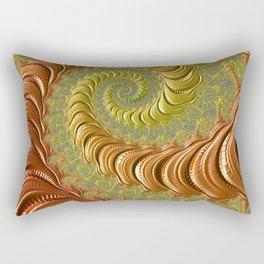 Bronze Twist - Fractal Art Rectangular Pillow