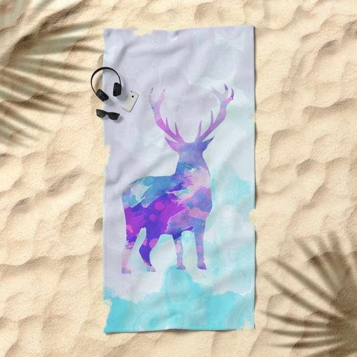 Abstract Deer II Beach Towel
