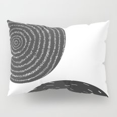 Back and White Retro Mod Flowers by Friztin Pillow Sham