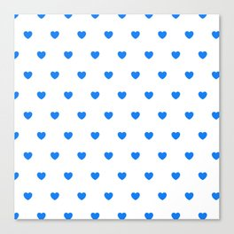 HEARTS ((true blue on white)) Canvas Print