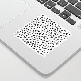 Flock of Birds // black Sticker