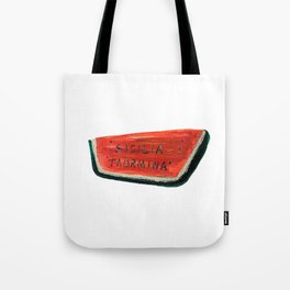 Fan's illustration - Watermelon ceramic in Taormina Sicilia Tote Bag