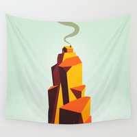 house Wall Tapestries featuring House by Dorian Danielsen