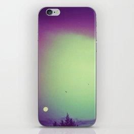 Moon, trees & birds iPhone Skin