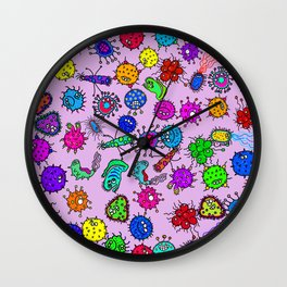 Bacteria Background Wall Clock