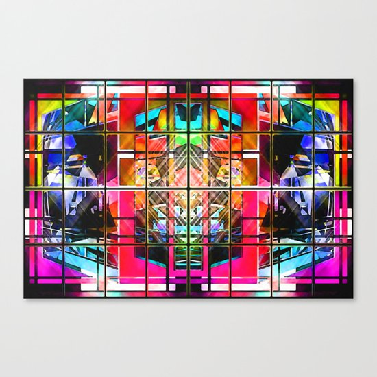 3-D-GEOMETRY AND COLOR. Canvas Print