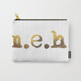 MEH Vibrant Urban Typewriting Text Carry-All Pouch