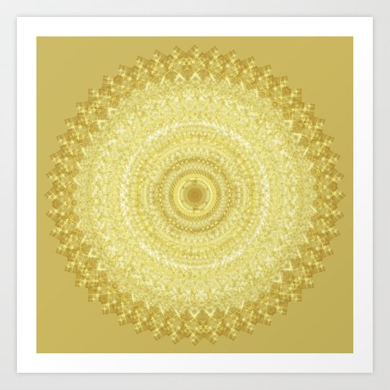 Gold Glitter Mandala Art Print