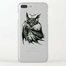 Bloodlust - Black and white Clear iPhone Case