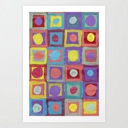 Circles and Squares Art Print