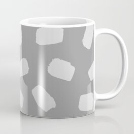 Brushstrokes in Gray Coffee Mug