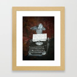 Poetry with Typewriter Framed Art Print