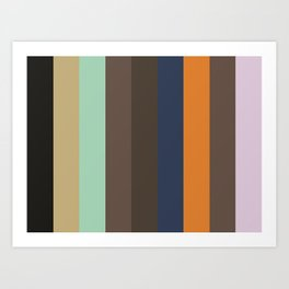 BEAUTIFUL : (B)lack (E)cru (A)quamarine (U)mber (T)aupe (I)ndigo (F)ulvous (U)mber (L)avender Art Print