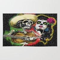 dia de los muertos Area & Throw Rugs featuring Dia de Los Muertos by Kevin Rogerson