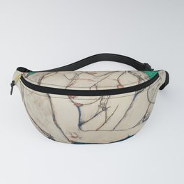 Egon Schiele - Crouching Woman with Green Headscarf Fanny Pack