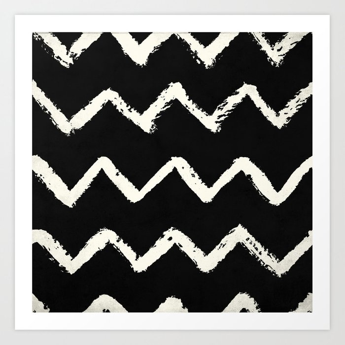 Tribal Chevron Stripes Art Print