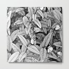 Leaves and Small Flowers Metal Print