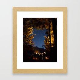 Campfire at Bowron  Framed Art Print
