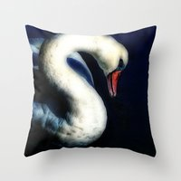 grace Throw Pillows featuring Grace by Spoken in Red