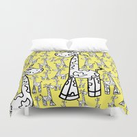 giraffes Duvet Covers featuring giraffes  by Whatcha-McCall-it