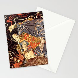 Fight With Tengu Stationery Cards