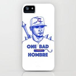 Javier Baez: One Bad Hombre iPhone Case