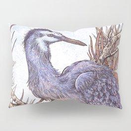 White Faced Heron Pillow Sham