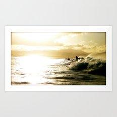 Surf Sunset Art Print