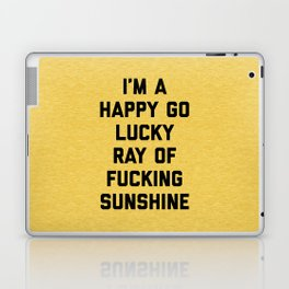 Ray Of Fucking Sunshine Funny Quote Laptop & iPad Skin