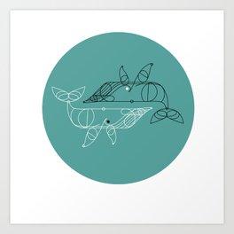 whale two Art Print