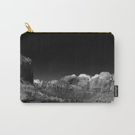 Zion Park View in B&W Carry-All Pouch