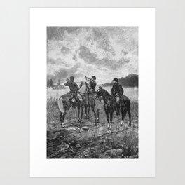 Civil War Soldiers On Horseback Art Print