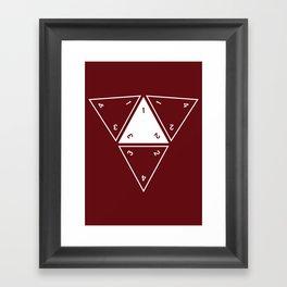 Red Unrolled D4 Framed Art Print