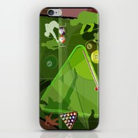 pool iPhone & iPod Skins featuring Pool by Robin Curtiss