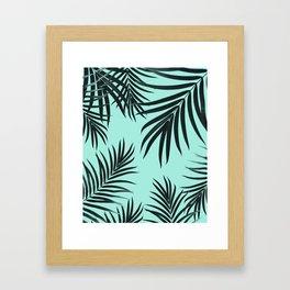 Palm Leaves Pattern Summer Vibes #7 #tropical #decor #art #society6 Framed Art Print