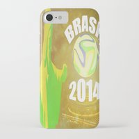 brasil iPhone & iPod Cases featuring Brasil 2014 by Beard Brothers Designs
