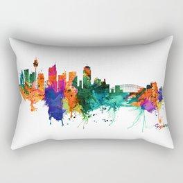 Sydney watercolor skyline Rectangular Pillow