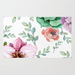 FLOWERS WATERCOLOR Rug
