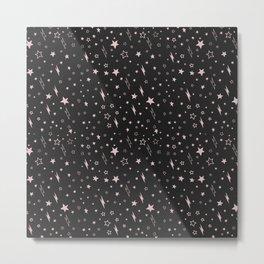 stars and lightening pattern Metal Print