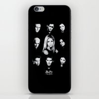 buffy iPhone & iPod Skins featuring Buffy Cast Vector by Paul Elder