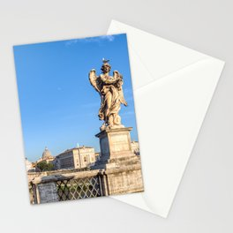 Angel with the Crown of Thorns at the Sant'Angelo bridge - Rome, Italy Stationery Cards