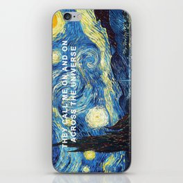 Starry Night Across the Universe iPhone Skin
