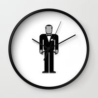 louis armstrong Wall Clocks featuring Louis Armstrong by Band Land