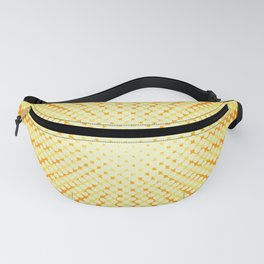 Sun rays background with halftone effect Fanny Pack