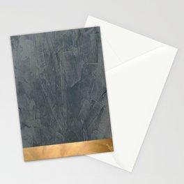 Slate Gray Stucco w Shiny Copper Metallic Trim - Faux Finishes - Rustic Glam - Corbin Henry Stationery Cards