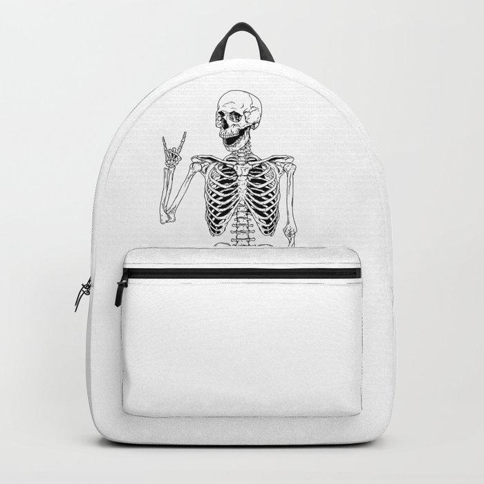 Rock and Roll Skeleton Rucksack